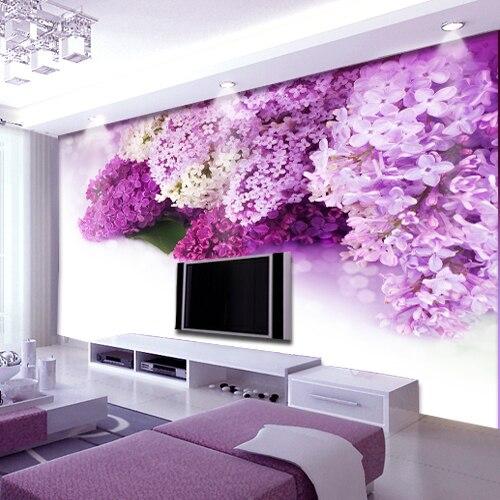 Purple Flower Mural 3d Photo Murals 3d Wall Murals . Part 34