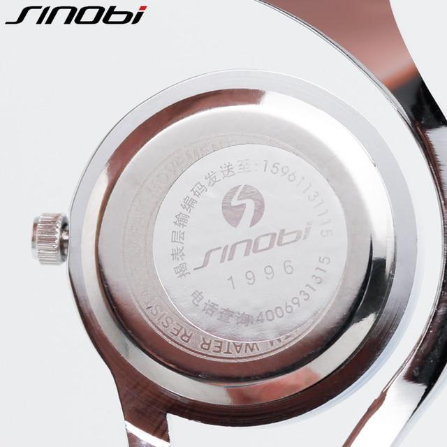 Rose Gold/ Silver Bracelet Quartz Stainless steel Women Wrist Watch 5