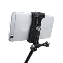 Selfie stick Connecting Smart Phone Clip Tripod Monopod Adapter Mount for iPhone Xiaomi Samsung Huawei Cell Phone Mobile Phone(China)