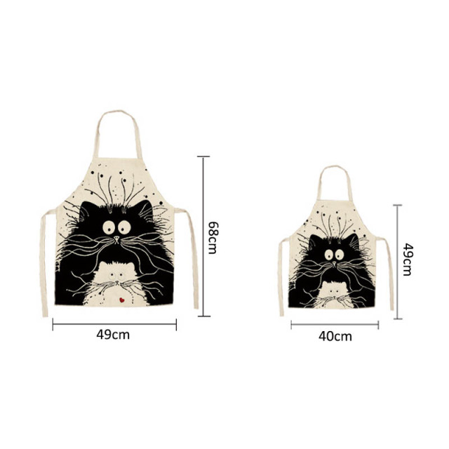NEW Cute Cat Printed Kitchen Aprons