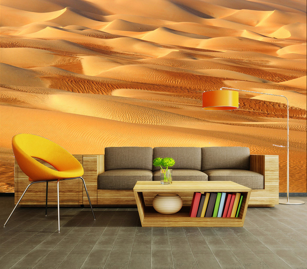 Desert View 3D Stereoscopic Room Natural Wallpaper for Wall 3 d Livingroom Animation Theme Cafe Bar Wallpaper Papel De Parede andy beane 3d animation essentials