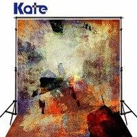 Kate Graffiti Wood Floor Wall Photography Backdrops Wedding Backdrops Customize Children Background Photo