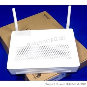 100pcs/lot Wholesale HG8546M mini size GPON ONU ONT FTTH HGU Router Mode 1GE+3FE+1TEL+USB+wifi, English version+EU Adapter(China)