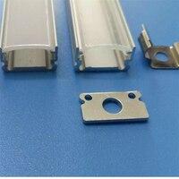 10-40 шт. 1 м 40 дюймов алюминиевый профиль для прокладки водить, млечный/прозрачная крышка для 12 мм 5050 5630 полосы с фитингами