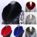 Genuine Real Natural Whole Fox Fur Collar Coat Ranch Fox  Fur Scarf 90cm Fur Luxury Collar Scarf/Shawl/Wrap Neck Warm