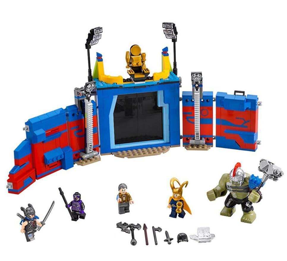 10749 Super Heróis Thor Vs. Hulk Arena Confronto Compatível com 76088 Bloco de Construção conjunto De Brinquedo Para Crianças