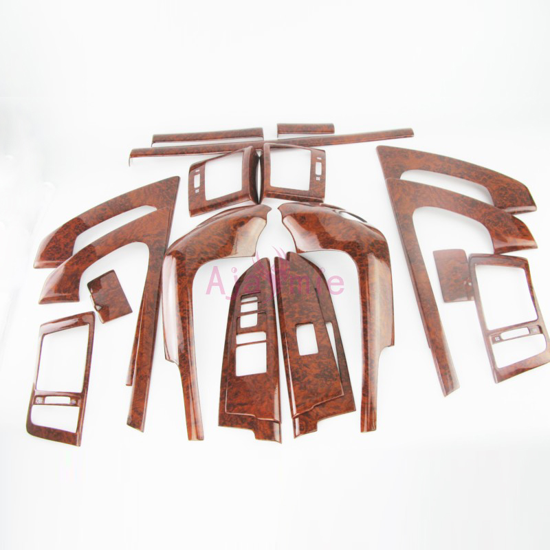 2008 2015 Interior Wood Color Overlay Panel Trim Cover Kit 19 pcs Package Car Styling For