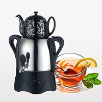 Electric Boiling Water Bottle Turkish double deck electric kettle Vacuum flask Black tea brewing tea filtration coffee pot