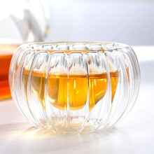 Чайная посуда непористые стеклянные двухслойные чашки Тыква Изолированные чашки чая