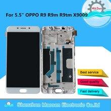 "5.5 ""M & סן עבור OPPO R9 R9M R9tm X9009 Oppo F1 בתוספת LCD תצוגת מסך + מגע פנל digitizer עם מסגרת עבור OPPO R9 R9M R9tm"