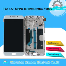 "5.5"" M&Sen For OPPO R9 R9M R9tm X9009 Oppo F1 Plus LCD Display Screen+Touch Panel Digitizer With Frame For OPPO R9 R9M R9tm"