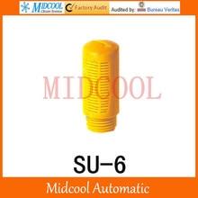 Plastic silencer muffler SU-6 thread 1/8″ SU type plastic timing muffler air connector pneumatic Orange