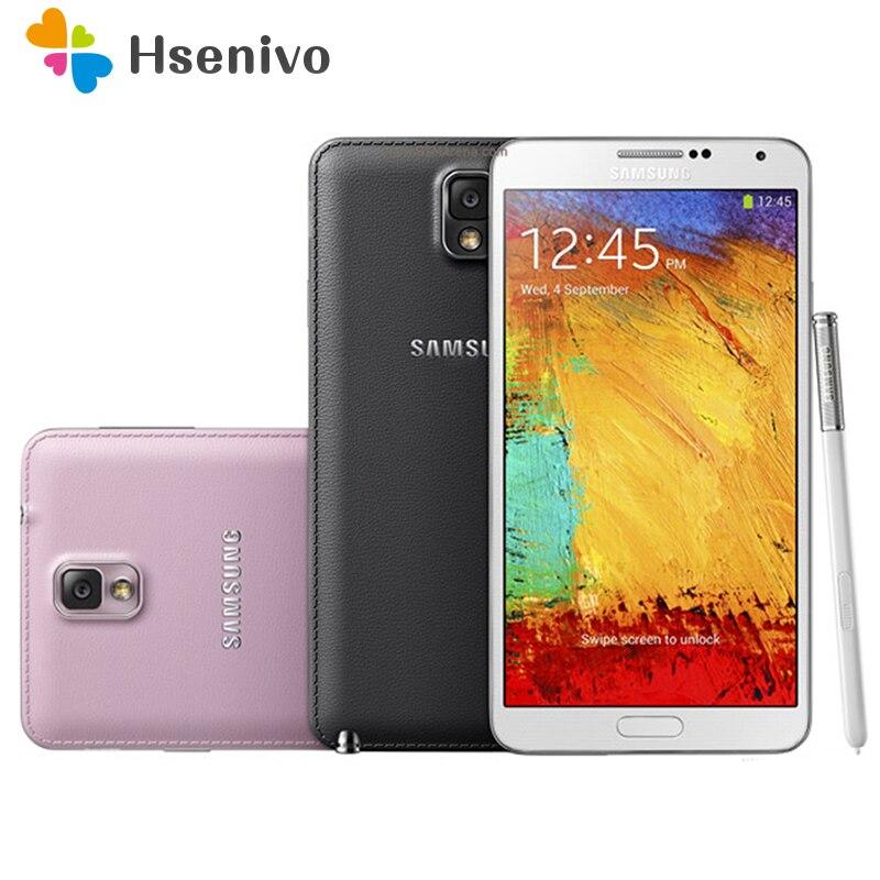 """100% Оригинальные Samsung Galaxy Note 3 N900 N9005 мобильный телефон 4 ядра 5.5 """"8MP 3G WI-FI GPS Note 3 сотовый телефон бесплатная доставка"""