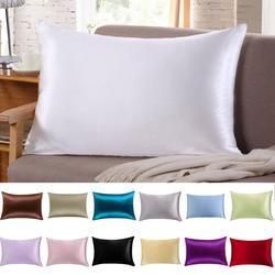 1pc 100% Mulberry Silk Pillowcase Satin Pillowcases Queen Size 51cm x 76cm Single Pillow Cover Multicolor