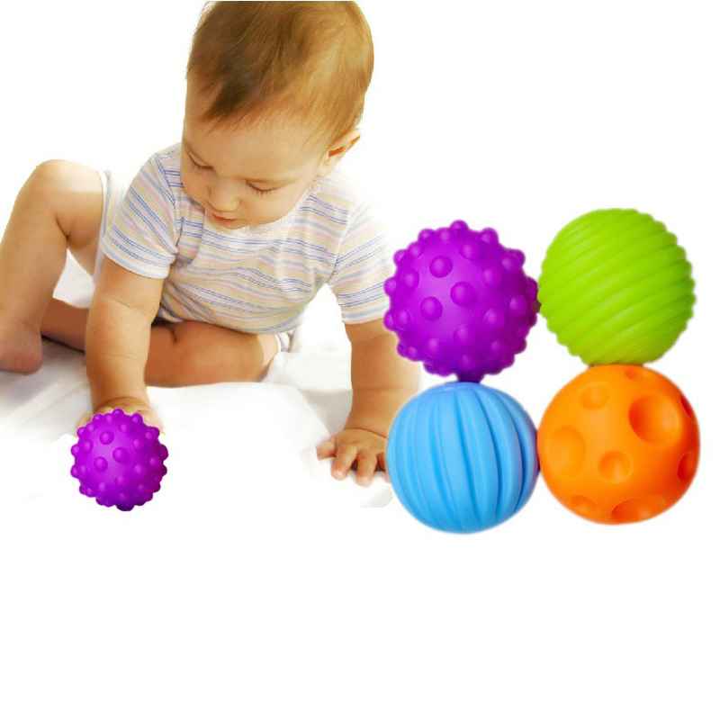 Tactile Sensory Massage Ball Baby Development Infant Baby Toys 0-12M Early Education Puzzle Multi-Texture Soft Rubber Hand Ball