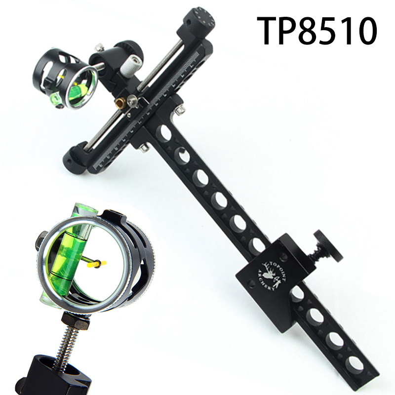 1 Pin 0 059 Compound Bow Sight 4x Micro Adjust Long Pole Hunting Bow Sight Aluminum