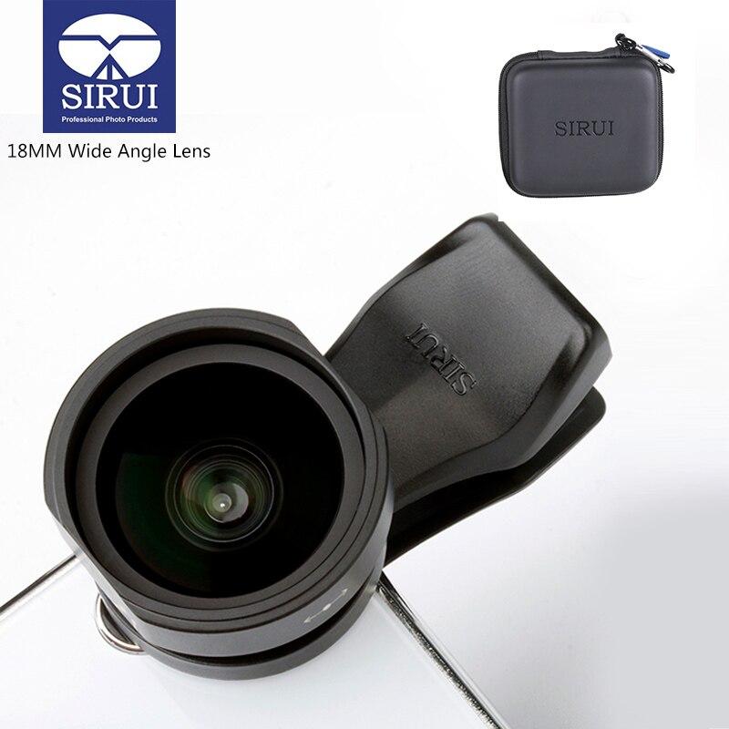 Sirui 18 MM de ancho ángulo de la lente del teléfono HD 4 K Cámara lentes de teléfono para iPhone Xs Max X 8 7 huawei P20 Pro Samsung S8 S9 Clip de la lente