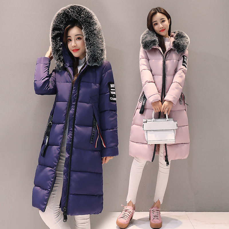 2017  Winter Elegant Thick Warm Hooded Cotton Jacket Zippers Slim Full Special Offer Large Size Women Coat Parka Students Slim new 2017 winter jacket women slim long section hooded thick coat casual warm full sleeve zippers parka cotton women jacket coats