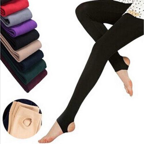 Women Warm Winter Thick Fleece Sheathy Lined Skinny Slim   Leggings   Stretch Pants Trousers