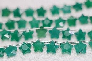 Один шт свободные бусины зеленый халцедон в форме звезды Граненый 8 мм для DIY изготовления ювелирных изделий FPPJ оптом бусины натуральный кам...