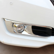 Free Shipping High Quality ABS Chrome Front Fog lamps cover Trim Fog lamp shade Trim For Honda Odyssey