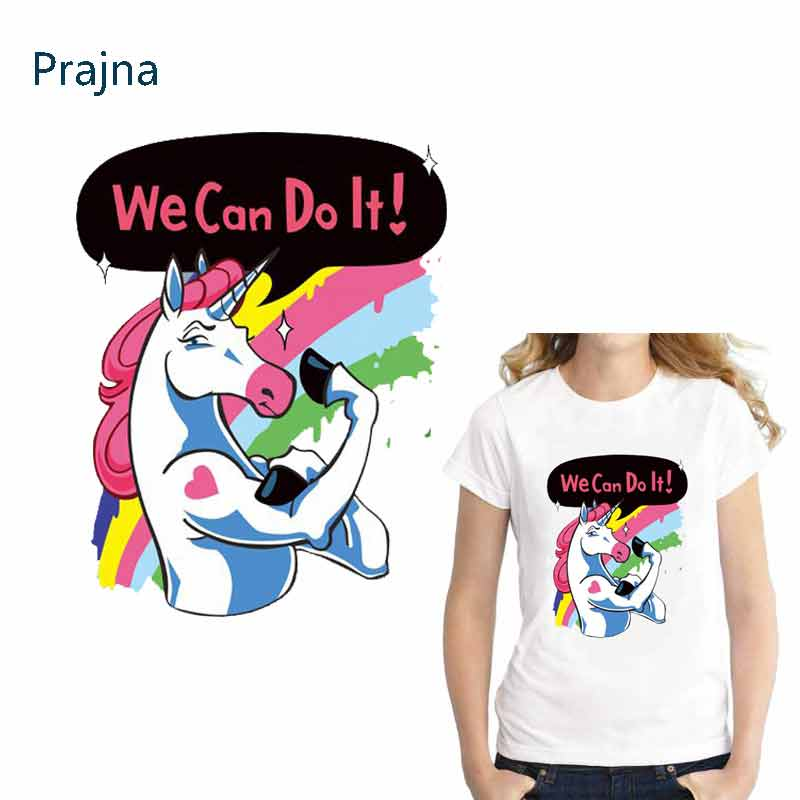 Prajna Applique Patch Horse Unicorn Patch For Clothing Iron On Patches For Clothes DIY Children T-shirt Jacket Hoodie Grade-A E