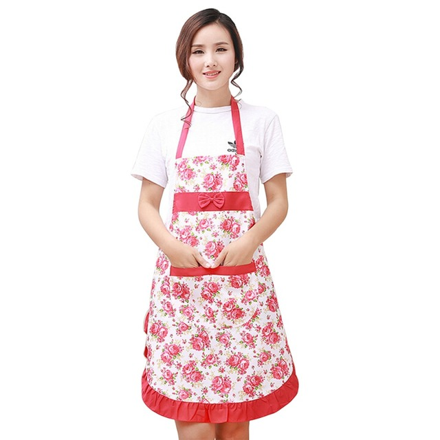 Superieur Lovely Womenu0027s Kitchen Aprons Floral Cook Restaurant Chef
