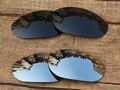 Black & Chrome Prata 2 Pares Polarized Lentes de Substituição Para O Monstro Cão Óculos De Sol Quadro 100% UVA & Uvb