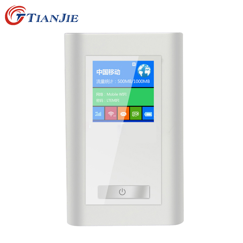 TIANJIE FDD-LTE GSM 4G Wifi Router Portable Global Unlock Dongle Wireless Modem Two SIM Card Slot RJ45 Port 5200 MAh Power Bank