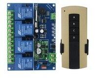 12ボルト24ボルト36ボルト48ボルト4ch 30a長距離rfワイヤレスリモート制御スイッチ4キー壁掛けワイヤレスリモコンドア制御