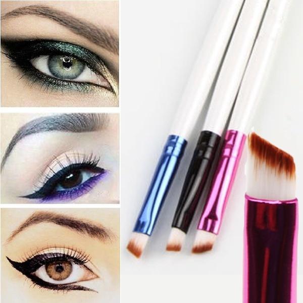 1 шт. супер мягкий профессиональный косой макияж бровей кисть Eyeshadow смешивание угловой кисть Comestic составляют инструмент que
