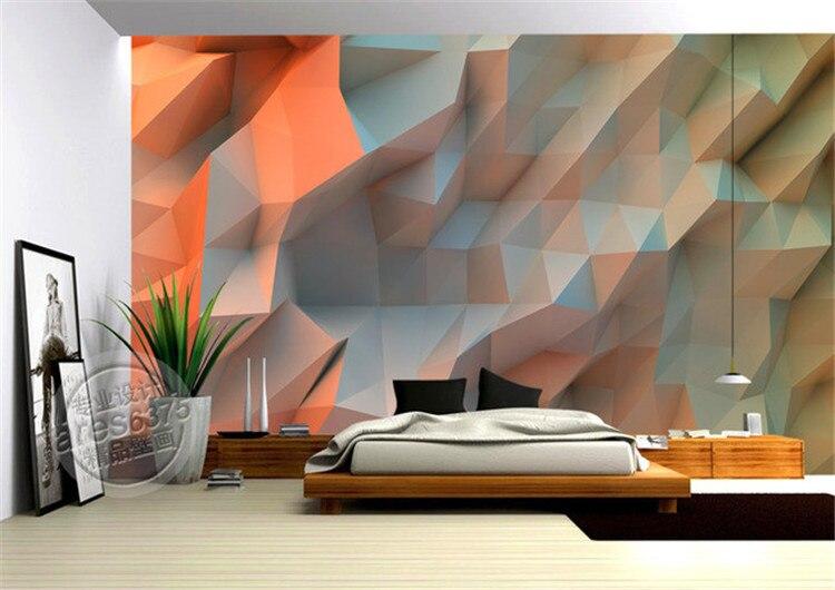 3D Creative Orange space Wallpaper bedroom Unique Design Mural Photo ...