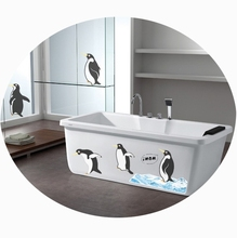 36CM height Big Penguins Vinyl Wall Stickers Removal Animals Wallpaper Decals Adult Child Home House Shower Bathroom DIY Decor