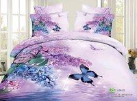 NEW Hot!Reactive printed 3d bed set 3d bedding set linen cotton queen size/bedclothes duvet cover pillowcase c