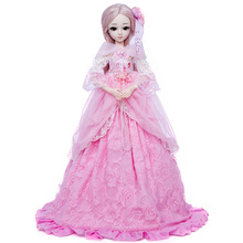 цена на Princess anna 1/3 60CM BJD doll DIY fashion wig doll  dressed princess doll girl Toys