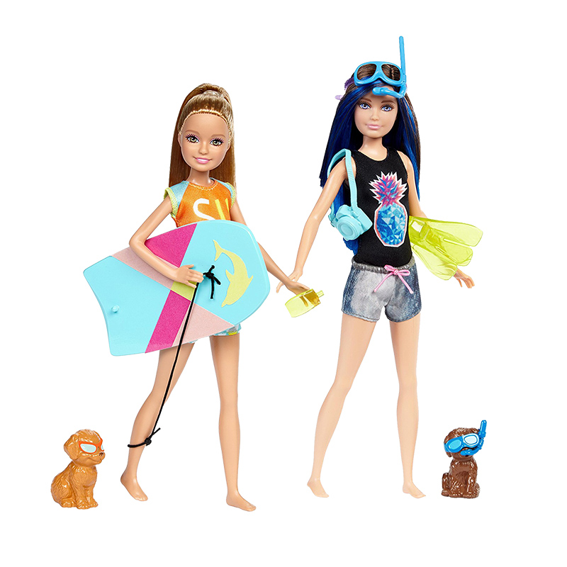 Barbie Girl Doll Toy Dolphin Magic Skipper with Puppy 2 Style Fashion Doll Diving Toy For Kid Birthday Collection Gift FBD68 original barbie dolls skipper dolphin magic adventure doll with clothin babies boneca brinquedos toys for children birthday gift