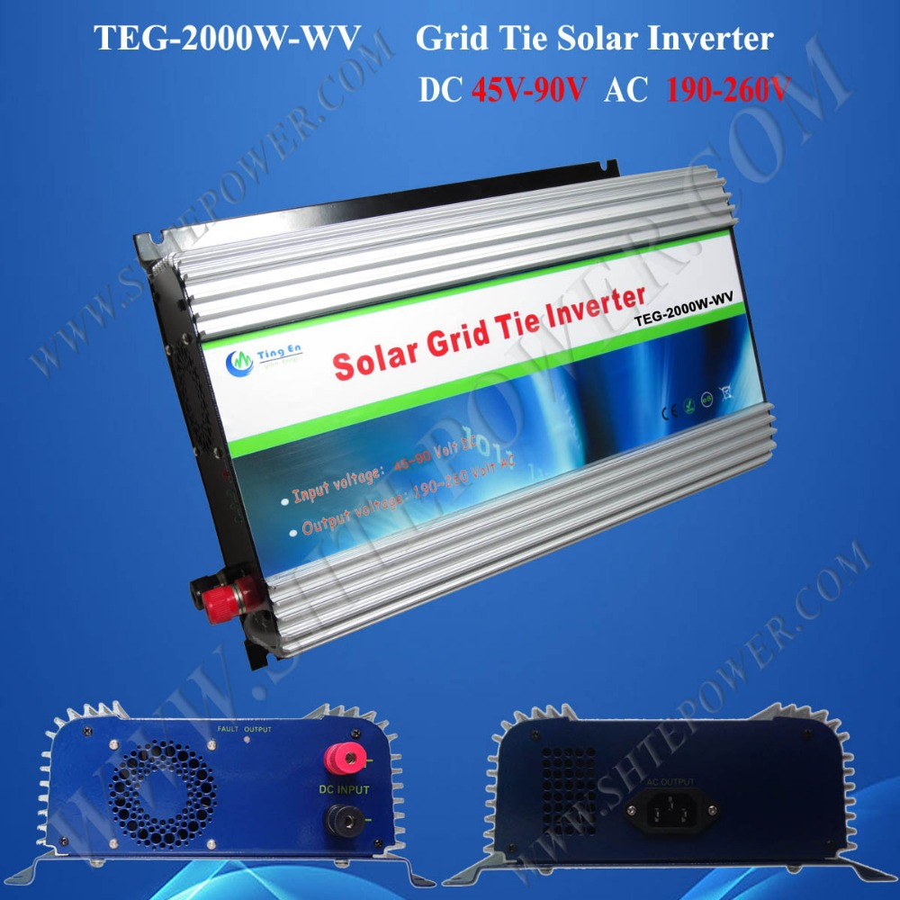 2kw grid tie solar inverter 2000w micro inverter dc 48v to ac 240v  inverter mppt solar power on grid tie mini 300w inverter with mppt funciton dc 10 8 30v input to ac output no extra shipping fee