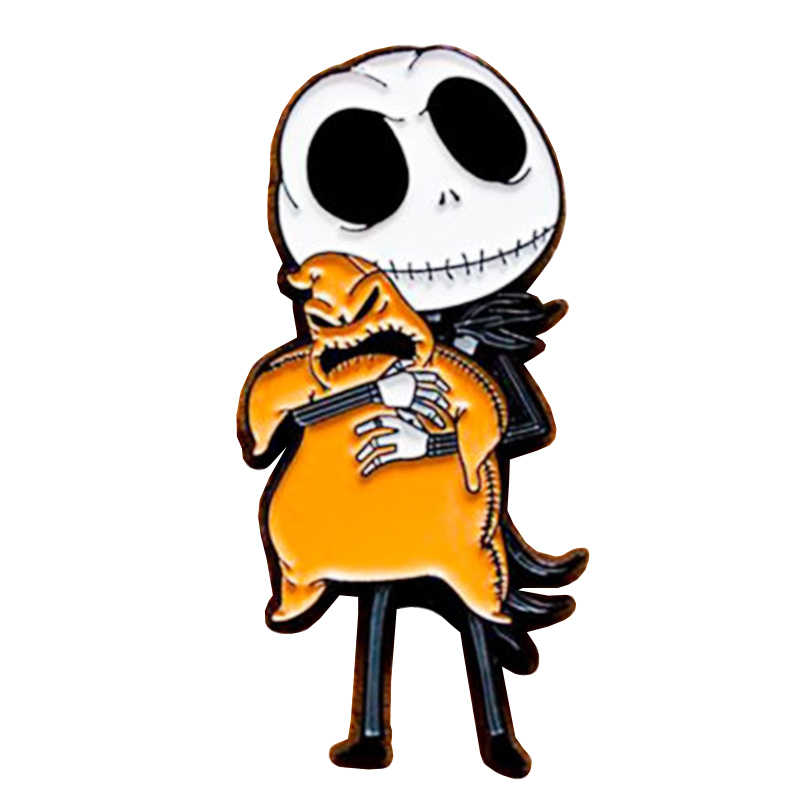 Incubo Prima Di Natale Gotico Spilli Halloween Decor Regalo per Martinetti Skellington E Sally