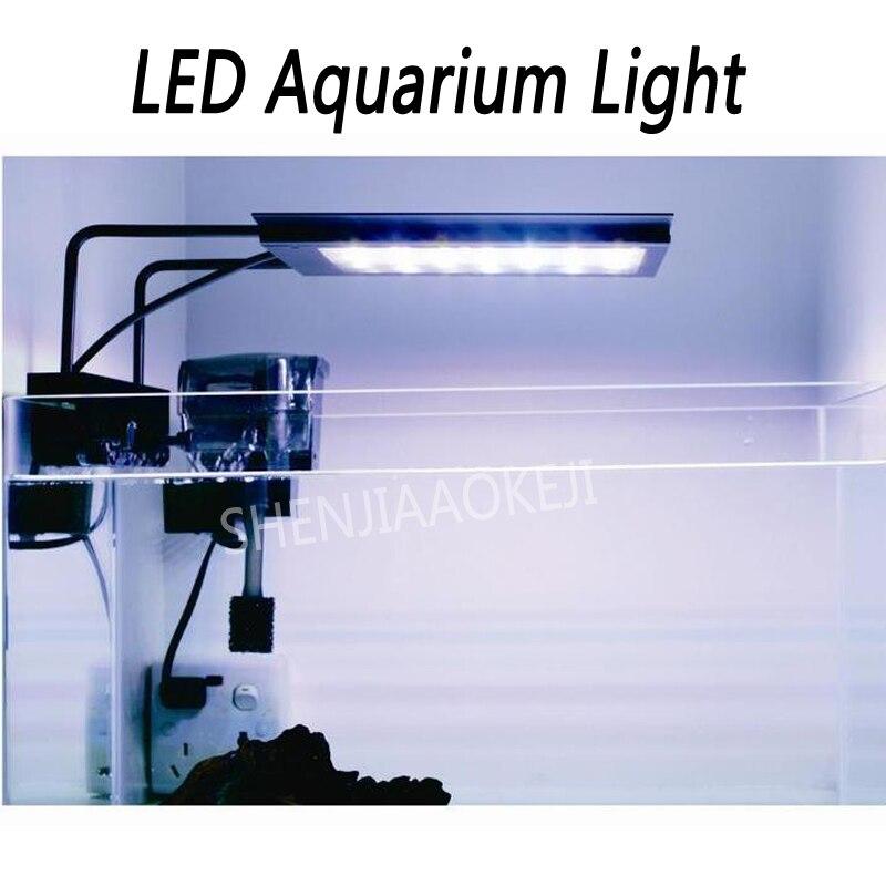 Micro цилиндр света 18 Вт пресной воды светодио дный аквариум огни синхронизации/затемнения водных растений лампа DC24V/1.0A 1 шт.