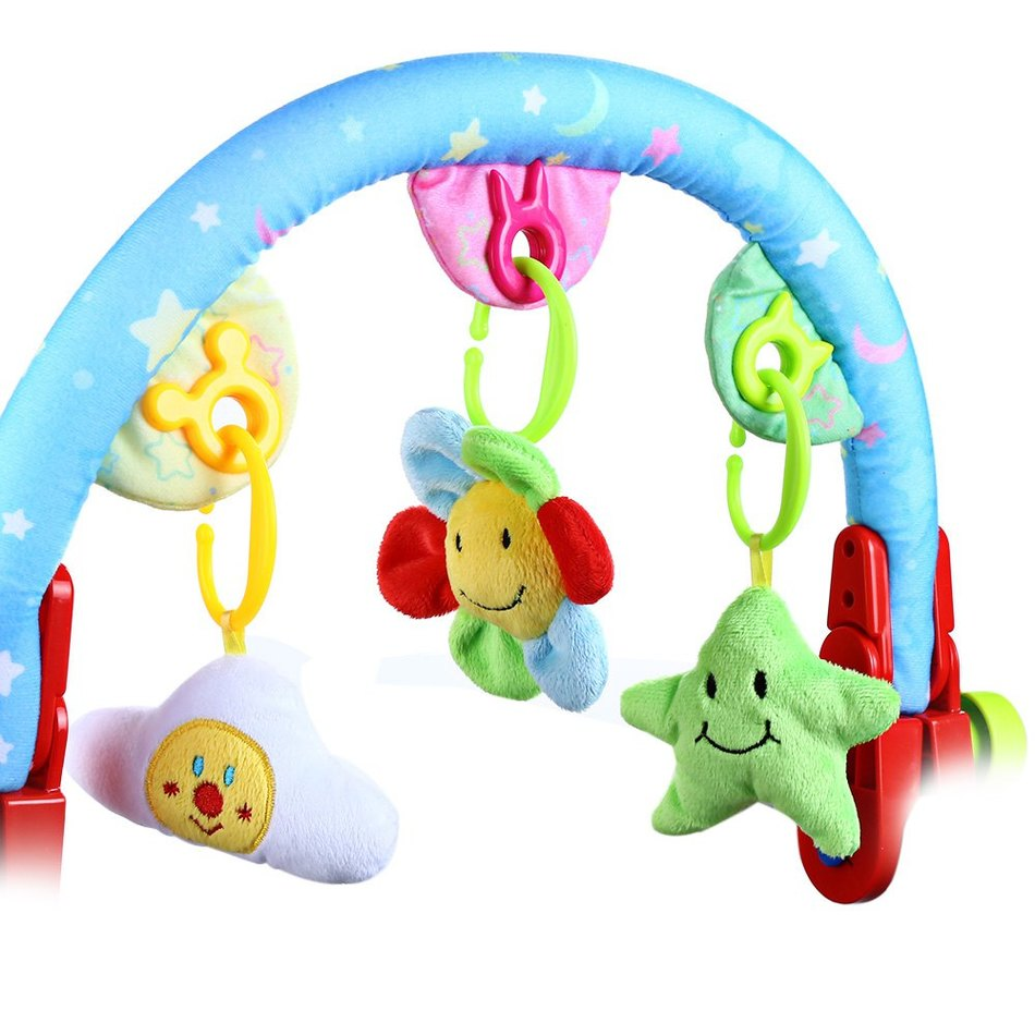 Best crib toys your baby - Lovely Infant Safe Plush Stroller Bed Crib Hanging Rattles Mobile Musical Toy Arched Bell For Your