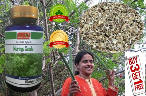 ФОТО (Buy 3 Get 1 Free) Details about the Moringa seed extract prevent many diseases 500mg X 100 Softgel capsules