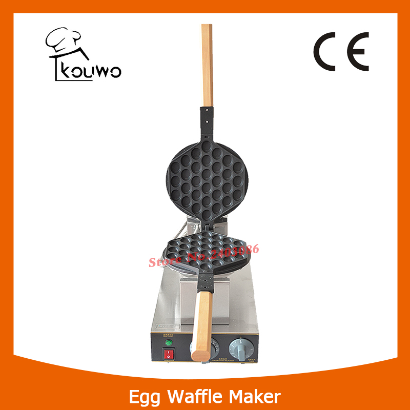 KW-6 hot sale high efficiency electric Hong Kong Commercial egg waffle maker bubble Waffle Maker Machine for fast food free shipping commercial electric 110v 220v in stock hong kong egg waffle maker fast shipping by fedex