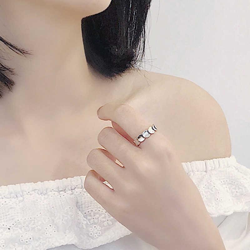 2018 Authentic 925 เงินสเตอร์ลิงพราวแหวนผู้หญิงงานแต่งงานงานหมั้นใหม่ปีของขวัญเครื่องประดับ Fine