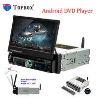Topbox Car Radio Android GPS Navigation 12V 1 din In dash Autoradio Wifi Car Audio Stereo Universal DVD Player Rear View Camera