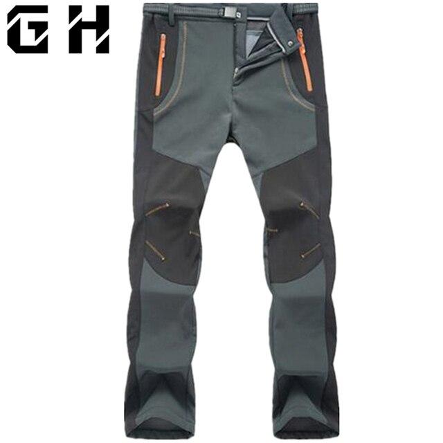 2017 новые зимние мужские и женские тактические брюки на открытом воздухе мягкие брюки в виде ракушки водонепроницаемые ветрозащитные термобрюки для кемпинга, лыжного альпинизма