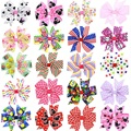 Drop Shipping Big Bow Dot Children Kids Baby Girls Hair Accessories Clip Hairpins Barrettes Headwear Flower Retail 1pc BB073