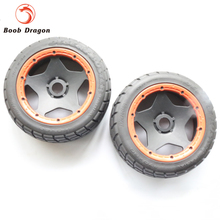 King Motor Baja On Road tire front completed set for HPI BAJA 5B Parts Rovan