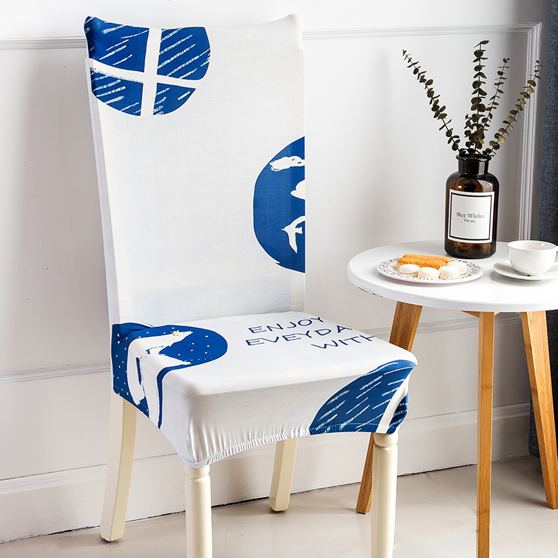 Tropical Flamingo Printing Spandex Elastic Dining Chair Protector Covers Home Kitchen Anti-dirty Removable Stretch Seat Case