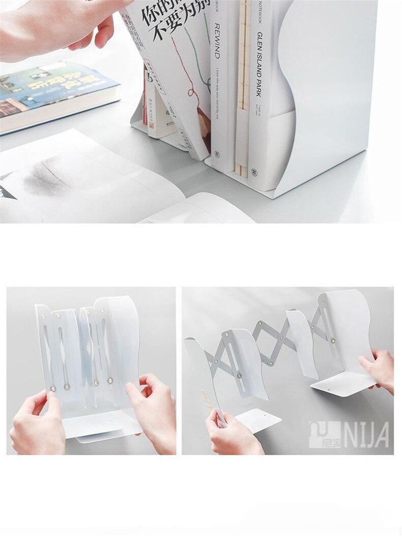 Criatividade telescópica Folding livro stand