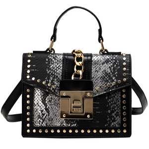 Image 5 - 2020 Design Handbags High Quality Ladies Shoulder Women PU Leather Zip Lock Small Chains  Flap Bags